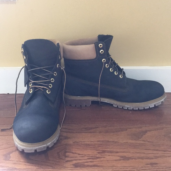 Navy Blue Suede Timberland Boots